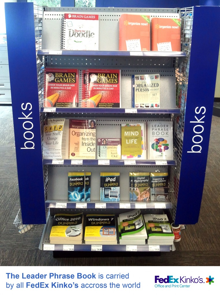 The Leader Phrase Book is carried FedEx Kinko's