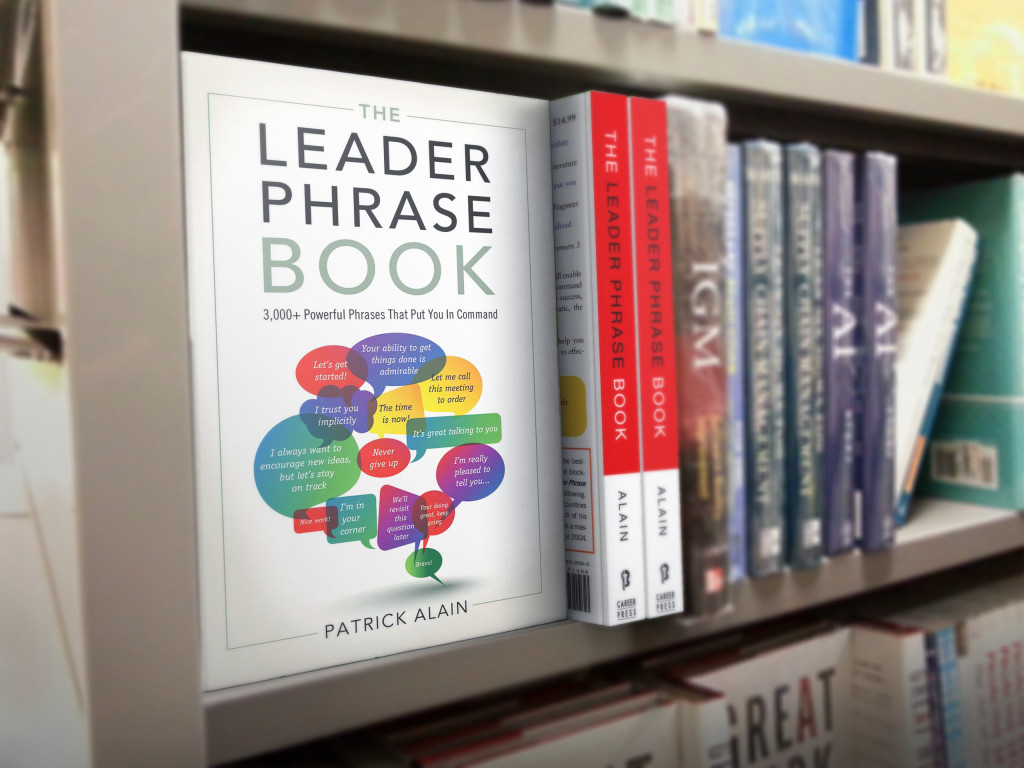 The Leader Phrase Book on shelf